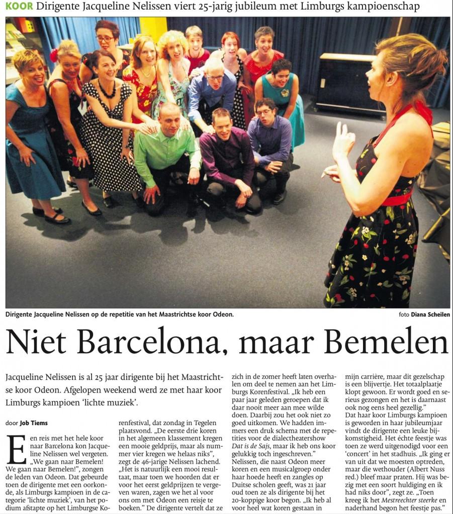 Niet Barcelona maar Bemelen